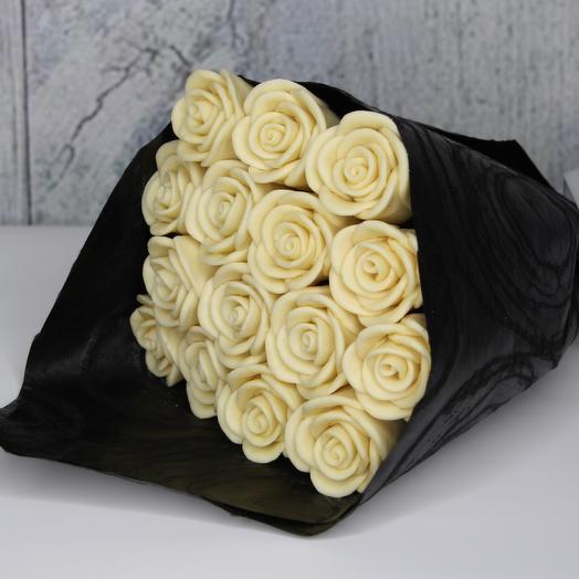 """Шокобукет """"Белые розы"""""""