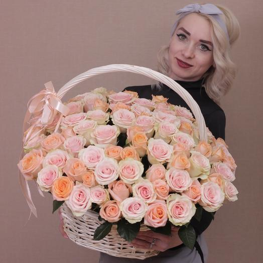 Корзина с 101 розой