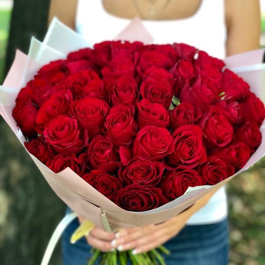 51 красная Роза 45 см