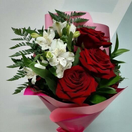 Букет 💐 с красной розой