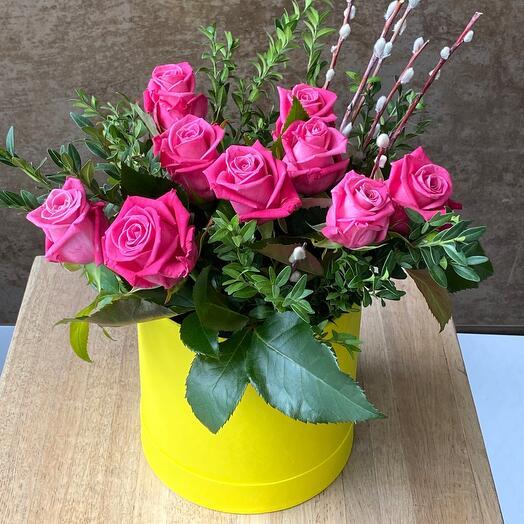 Свежие Цветы в коробке