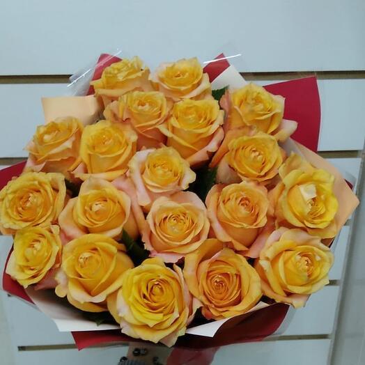 Монобукет из роз Эквадор, 40 см