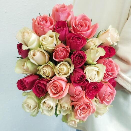 Роза Кения 40 см-35 шт