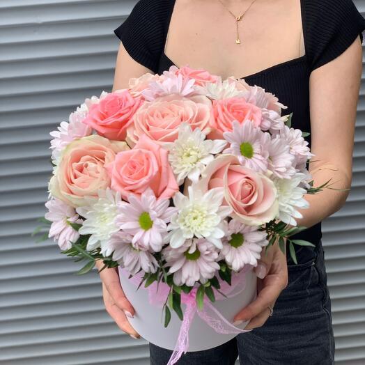 Цветы в коробке Родная