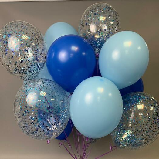 Каскад из 12 гелиевых шаров «Парад планет»