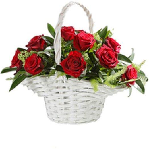 163771 Корзина Свежесть утра: букеты цветов на заказ Flowwow