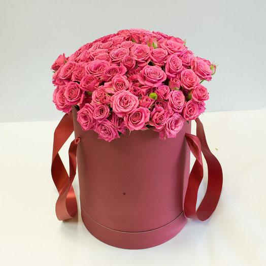 Розы Лав Лидия в шляпной коробке: букеты цветов на заказ Flowwow