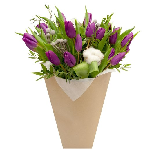 Букет с тюльпанами Горная река: букеты цветов на заказ Flowwow
