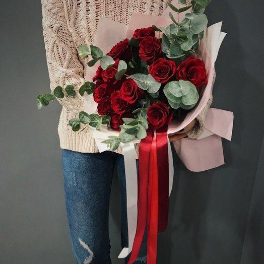 15 роз: букеты цветов на заказ Flowwow