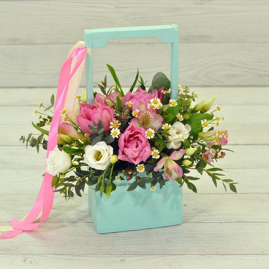 Wood box Дженифер: букеты цветов на заказ Flowwow