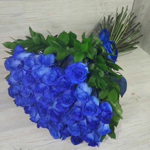 Букет из синих роз: букеты цветов на заказ Flowwow