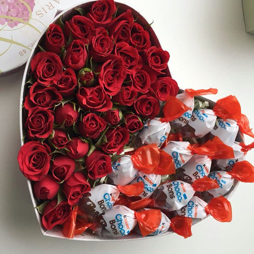 Сладкое послание: букеты цветов на заказ Flowwow
