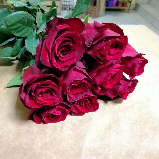 Букет из 9 премиум-роз Exp orer: букеты цветов на заказ Flowwow