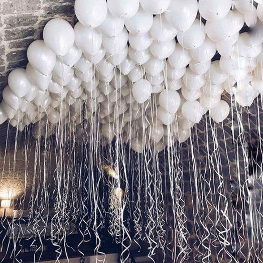 Белоснежные воздушные шары 150 шт: букеты цветов на заказ Flowwow