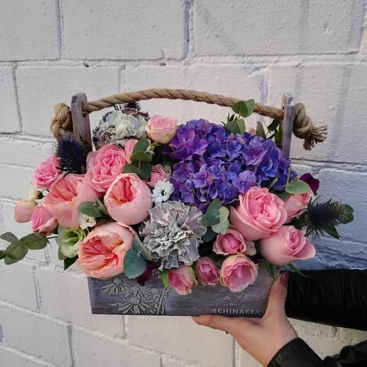 Ящик романтика ): букеты цветов на заказ Flowwow