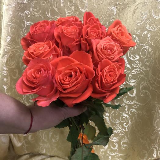 Розы Вау  (11шт.60см): букеты цветов на заказ Flowwow