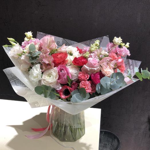 «100 оттенков розового!»: букеты цветов на заказ Flowwow