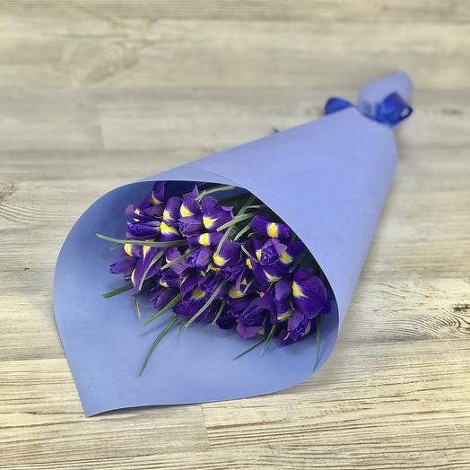 Букет из 15 ирисов: букеты цветов на заказ Flowwow