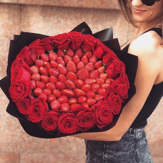 Клубничный букет «Чистое сердце»