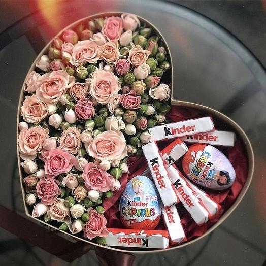 Букет сладко-цветочный «Принцесса»: букеты цветов на заказ Flowwow