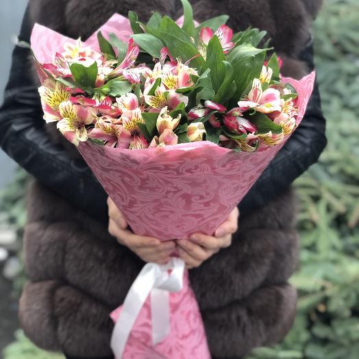 Микс из Альстромерии: букеты цветов на заказ Flowwow