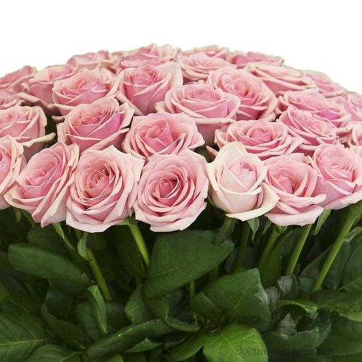 Букет из розовых роз 25 шт: букеты цветов на заказ Flowwow