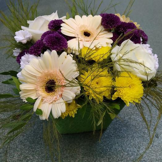 Корзиночка Герберия: букеты цветов на заказ Flowwow