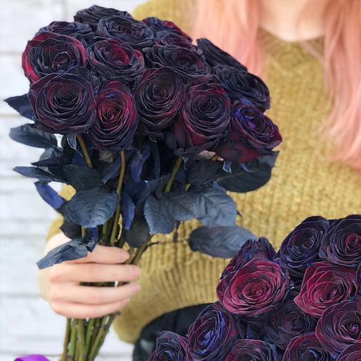 """Букет """"Блэк Бакара"""" Small: букеты цветов на заказ Flowwow"""