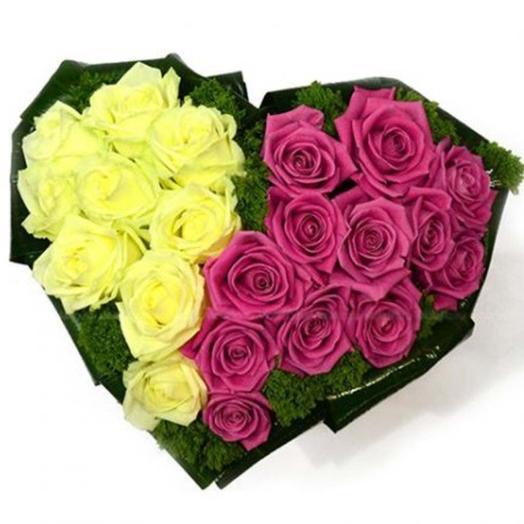 """Композиция из роз """"Танго вдвоем"""": букеты цветов на заказ Flowwow"""