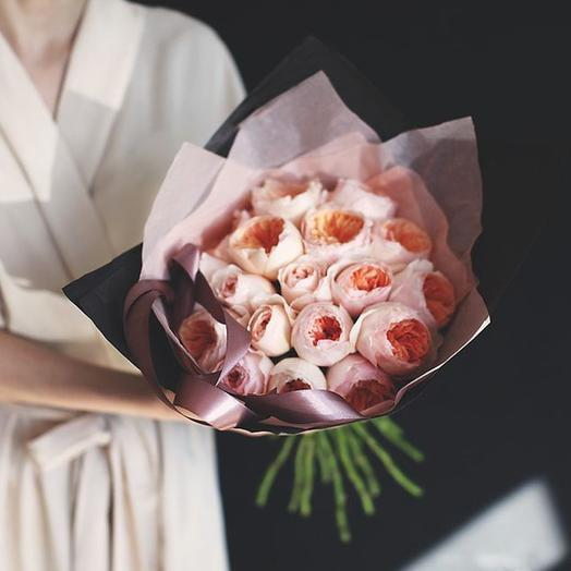 """Букет """"Дэвида Остина Джульетта"""" Medium: букеты цветов на заказ Flowwow"""