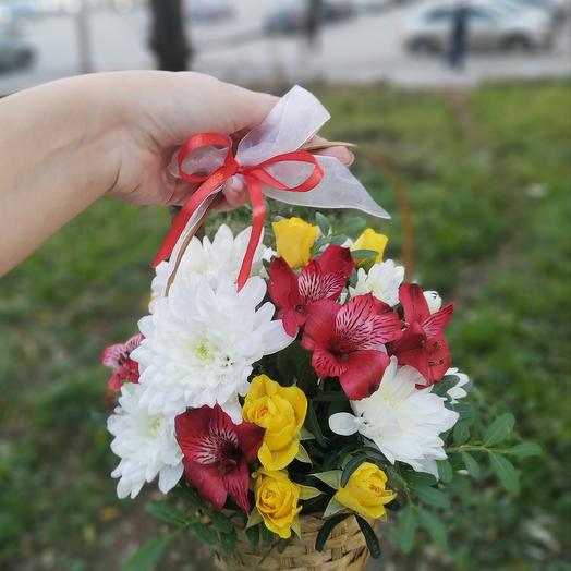 "Цветочная композиция ""Огонек"": букеты цветов на заказ Flowwow"