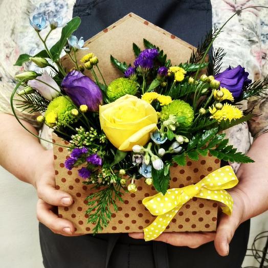 Вам письмо из живых цветов: букеты цветов на заказ Flowwow