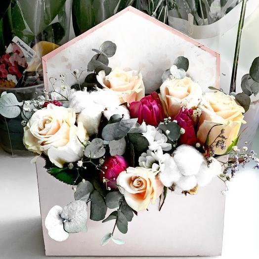 Конверт Признание: букеты цветов на заказ Flowwow