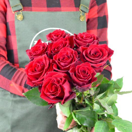 Розы Эквадор 9шт