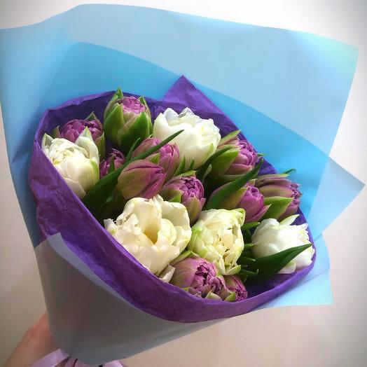 Махровый тюльпан: букеты цветов на заказ Flowwow