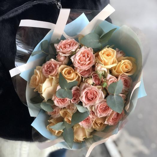 Кремовый микс тифани: букеты цветов на заказ Flowwow