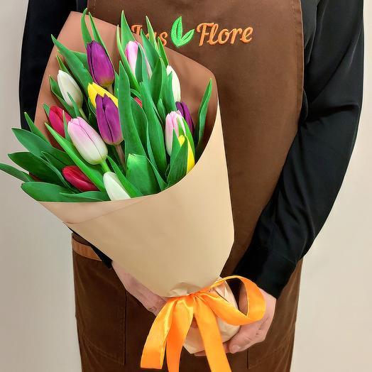 Букет Мелани (15 тюльпанов)