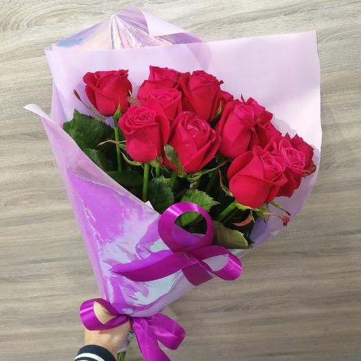 ✅ 15 Малиновых Роз