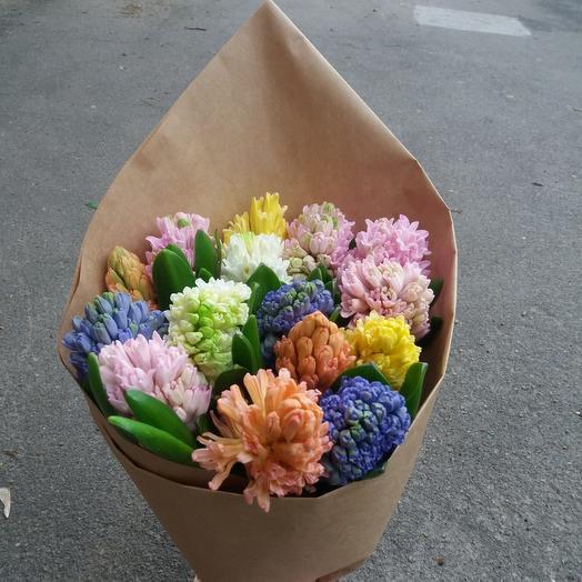 Букет «Гиацинты микс»: букеты цветов на заказ Flowwow