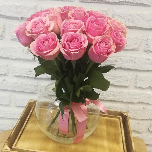 """НК"" 19 розовых кенийских роз: букеты цветов на заказ Flowwow"