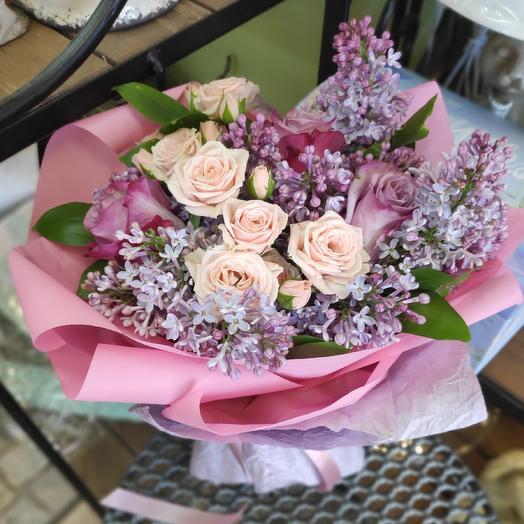 Букетик с сиренью: букеты цветов на заказ Flowwow