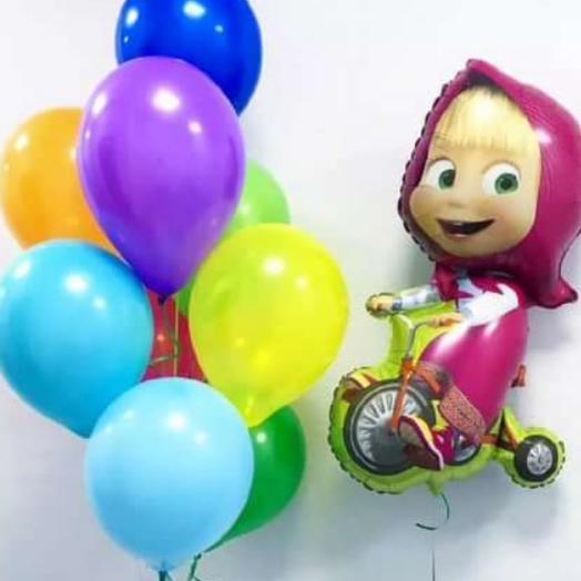 Композиция,,Маша на велосипеде: букеты цветов на заказ Flowwow