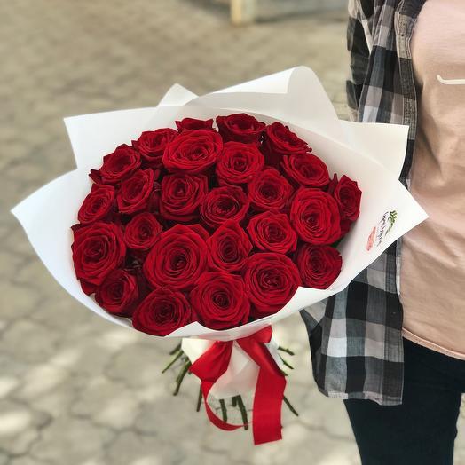 25 красных роз «Гранд»