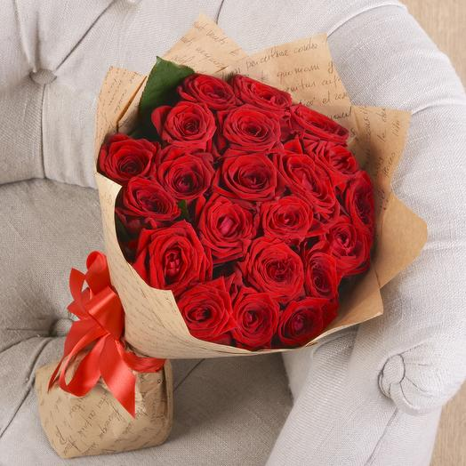 Букет 21 Красная Роза