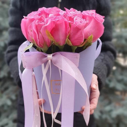 Розы космик в коробке 15 штук