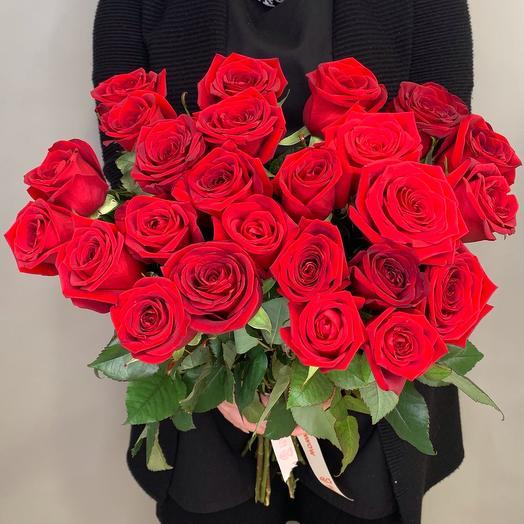 35 красных роз 50 см