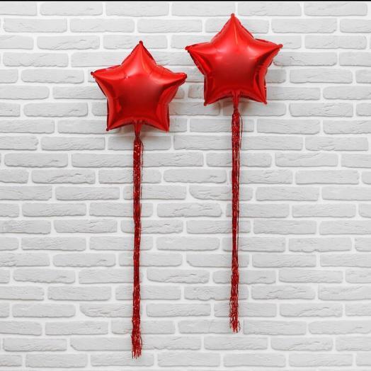 Шар «Звезда с хвостом» красная