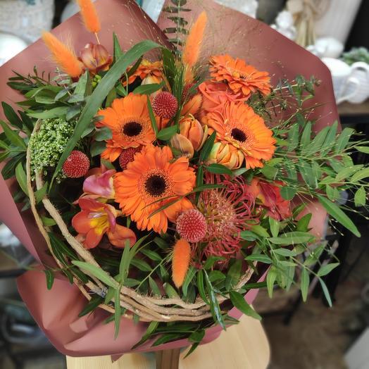 Букет цветов Оранж джус