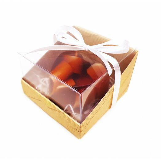 Мини набор -сердце в коробочке (Апельсин с шоколадом), 85 гр