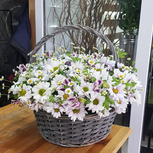 "Basket with flowers "" Chamomile"""